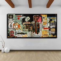One Panel basquiat prints - Cuadros Decoracion Painting Notary Jean Michel Basquiat neo expressionism For Graffiti Art Print On Canvas For Home Decoration