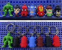 key chain baseball key chains - PVC Silicone stereo captain America key chain Iron man key animation cartoon avengers alliance