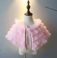 Wholesale Baby Girl Full Dress Tutu Poncho Infant Toddler Party Evening Formal Dress Tutu Cloak Children Kids Balll Prom Outwear Coat Clothing Wears