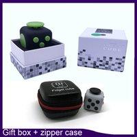 big five sports - Top quality Fidget cube color retailbox zipper case best quality matte touch silicone five button