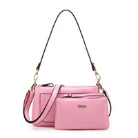 Wholesale New Women Small Bag Long Strap Brand Lttle Women Messenger Bags Paint PU Leather Clutch Bags For Cell Phones Wallet Purse Crossbody Bags Set