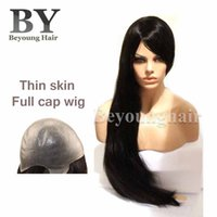 thin skin wig - Beyounghair Stock Hairpiece Inch Long Hair Full Cap Wigs Thin Skin Base Hair Replacement Systems Natural Color High Density Wigs For Women