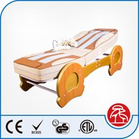 Wholesale Luxury Korea Recling Electric Full Body Jade Stone Roller Thermal Massage Bed with MP3 Music Function