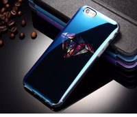 apple i phone - Luxury Blu ray Clear Silicone Case For IPhone S Bling Blue Light Ultra Thin Cartoon Soft TPU Cool Fundas Back Cover For i Phone
