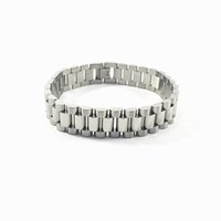 Wholesale New Arrival Rolex Style Fashion Stainless Steel Men s Bracelets mm Silver Gold Color Link Chains Gift For Men