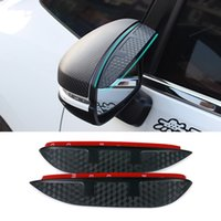 Wholesale Car Styling Carbon rearview mirror rain eyebrow Rainproof Flexible Blade Protector Accessory For TOYOTA EZ