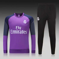 Wholesale Thailand Quality New Real Real Madrid Long Sleeve Training Clothing Embroidery