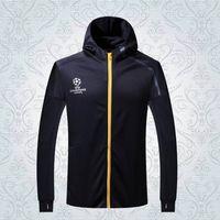 Wholesale 2016 UCL black white have hat adult jacket