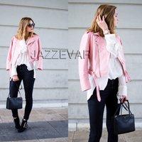 basic yellow - 2016 New Autumn Fashion Street Women s Short Washed PU Leather Jacket Zipper Bright Colors New Ladies Basic Jackets Good Quality
