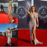 affordable art - Jennifer Lopez Affordable luxurious Sexy Prom Dresses with Criss Cross Straps Split Sequin Backless silver Celebrity Red Carpet Gowns