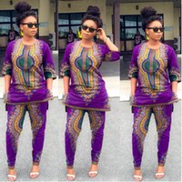 Wholesale Rompers Womens Jumpsuit Elegant Half Sleeve Bodycon Jumpsuits Sexy Purple African Vintage Print Bandage Jumpsuit Club Night Wear