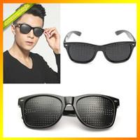 Wholesale New Fashion Anti fatigue Use Care Eyes Exercise Eyesight Vision Improve Pinhole Glasses Natural Healing