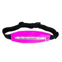 Wholesale Sports Running Waist bags Pack Pocket Belt with LED Lights Adjustable Safety Waist Bag New Arrival