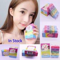 Wholesale Handmade Soap New OMO White Plus Soap Mix Color Plus Five Bleached White Skin Gluta Rainbow Soap DHL WX H01