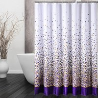 Wholesale shower curtain high grade bathroom polyester shower curtain waterproof mildew thickened polyester shower curtainfor the bath