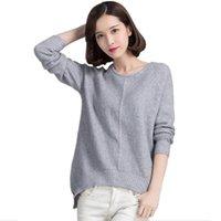 Wholesale 2016 autumn winter cashmere sweater women fashion sexy o neck sweater loose wool sweater plus size pullover XXXL
