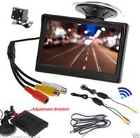 Wholesale 5 quot TFT LCD Car Monitor Mirror Reverse Wireless Rear View Backup Mini Camera
