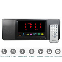Wholesale W Digital Radio FM Bluetooth Speaker with Remote Control Alarm Clock FM Stereo Receiver MP3 Player Portable Radio Y4369A