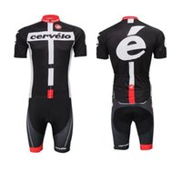 bicycle cervelo - Cervelo Cycling Jerseys Set Short Sleeve With Padded Bib None Bib Trousers High Elastic Road Bicycle Clothing White Black Suit XS XL