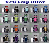 Wholesale 20colors Yeti cups oz color Cups Stainless Steel Insulation Cup Cars Beer Mug Large Capacity Mug Tumblerful