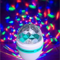 Wholesale Disco Ball Lights Disco Lighting DJ LED E27 W RGB degree Auto Rotation AC85 V For Home Party Disco