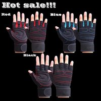 Wholesale itness Body Building Weight Lifting High Quality Fitness Weightlifting Gloves Hand Pads Non slip With Wrist Exercise Training Gym Gloves