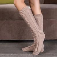 anne free - NEW fashion Women Warm Step Foot Knit Word Woolen Yarn Boots Stocking anne free ship