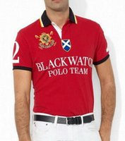 Wholesale 2017 New Fashion Polo Shirt Men Black Watch Classic Tees Casual Custom Fit Short Sleeve Cotton Big Horse Polo Team T Shirts