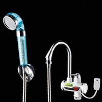 Wholesale BD3000W Earth Leakage Protection plug Take a bath shower Digital Display Tankless Electric Faucet Kitchen Faucet Water Heater