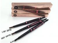 automatic brush - ANA eyebrow pencil with brush Automatic Eyebrow pencil Eyebrow Enhancers makeup waterproof BLACK DEEP COFFEE LIGHT COFFEE