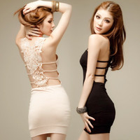 Wholesale High Quality Sexy black condole belt skirt dress skirt cultivate one s morality dinner suit club dresses