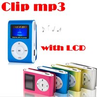 Wholesale Colorful MINI Clip MP3 Player with Inch LCD Screen Music player Support Micro SD Card TF Slot Earphone USB Cable with retail box