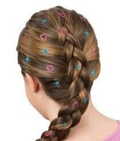 Wholesale beauty hair glitter hair decoration hot stamps stamps press dazzle shining star heart peace flower shape in