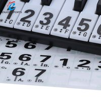 Wholesale High Quality Transparent Key Electronic Keyboard Key Piano Numbered Musical Notation Note Sticker for White Keys