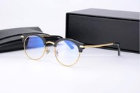 Precio de Men s round eyeglass frames-Brand Glasses-2017 V lentes de ojo de las mujeres eyewear de las lentes azules marco para los hombres