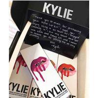 Wholesale 2017 Newest Kylie Lip Kit Colors Kylie Lip Kit Moisturizing Lip Gloss Set With Lipstick And Lipliner