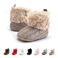 baby plush boots - New Winter Kids Shoes Baby Boys Walking Shoes Boots Toddler Warm Indoor Walking Shoes Plush Boots Inside cm