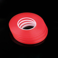 Wholesale 60pcs Transparent Clear Adhesive Transparent Double side Adhesive Tape Heat Resistant Universal cellphone repair sticker red