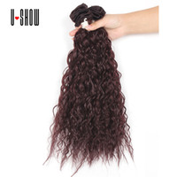 Wholesale New Arrival Pure Color Bohemian Curl quot quot quot Available Synthetic Hair Extensions Good Quality Hair Weft