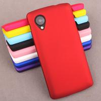 Precio de Plástico nexo-Para LG Nexus 5 casos duro PC cubierta de la caja de plástico para LG Nexus 5 caucho helado caso trasero para LG Nexus5 Fundas Capa