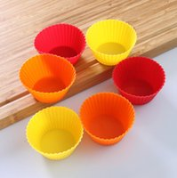 Wholesale colorful silicone cake mould baking moulds with shape of round heart flower leaf for option OPP bulk packing