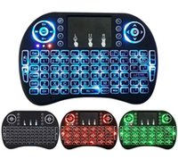 Wholesale New Fly Air Mouse G Mini i8 Wireless Keyboard Backlit With Backlight Red Green Blue Remote Controlers For MXQ M8S MiniX