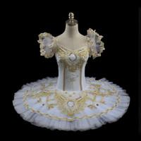 al por mayor tutús amarilla para las mujeres-El tutú blanco del ballet de las mujeres, traje del tutú del disco, ballet profesional rosado viste el ballet amarillo tutuBT8955 del funcionamiento