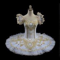achat en gros de tutus jaune pour les femmes-Tutu blanc de ballet des femmes, costumes de tutu de plat, ballet professionnel rose ballet de performance jaune tutuBT8955