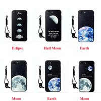 apple iphone event - Starry Moon Celestial Event Chic Pattern TPU Silicone Phone Cases for iPhone Dirt resistant Back Shell with Lanyard