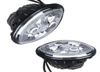 LED light Left 7 inch EFG 7 Inch Round Led Headlight with High Low Beam Halo Ring for Jeep Wrangler, Land Rover And Harley.