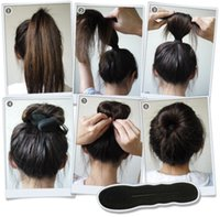 Esponja Foam Bun Clip Maker Anterior Foam Twist Accesorios de peinado Hair bun maker Twist Tool Hair Band