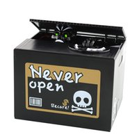 Wholesale NEW Halloween Gifts Stealing Money Skull Skeleton Statue dog Saving Box Money Piggy Bank Saving Box Piggy Bank Kids Gift
