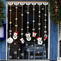 Wholesale New DLX Christmas Snowman Strap Wall Sticker Shop Window Glass Christmas Decorative Sticker Gift decoration