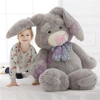 achat en gros de géant lapin farci peluche-Giant Pop Anime Bunny Peluche Poupée Big Soft Stuffed oreille oreille Lapin Animaux Jouet avec Rose Incense 2 tailles disponibles